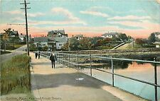 1907-15 Print Postcard; Gardner MA Park & Abbott Streets Worcester County posted