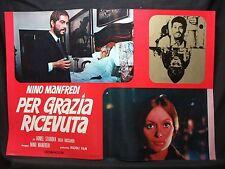 FOTOBUSTA CINEMA - PER GRAZIA RICEVUTA - NINO MANFREDI - 1970 - DRAMMATICO - 04