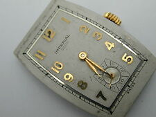 VINTAGE 1940S IMPERIAL 48 1744 17 JEWEL WATCH MOVEMENT RUNS, NEEDS CLEANING