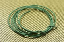 20 AWG vintage style solid cloth wire 6 ft - GREEN