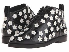 Isa Tapia Winston Floral Daisy Applique Ankle Boots Size 37.5 (MSRP: $650)