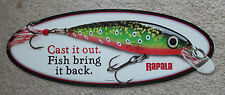 VINTAGE STYLE EMBOSSED RAPALA FISHING LURE SIGNS FISH MAN CAVE DECOR ADVERTISING