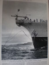 Photo article HMTS Monarch lays telephone cable Argyll coast 1955