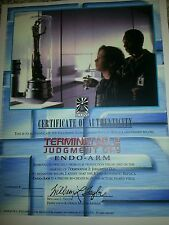 ICONS Terminator 2 Judgement Day ENDO-ARM ORIGINAL COA Paperwork Prop Replica