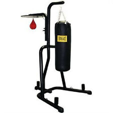 Everlast Dual Station Heavy Punching Bag Boxing Stand MMA BLUE NEW!