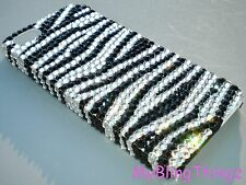 B&W ZEBRA Crystal Rhinestone BLING Back Case for iPhone 5 w/ Swarovski Elements