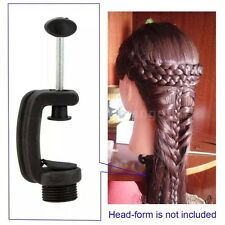 PRACTICE COSMETOLOGY MANNEQUIN HEAD WIG HOLDER STAND TABLE CLAMP US SELLER
