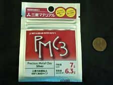 New Mitsubishi PMC3 Precious Metal Clay 7g Silver Clay Pack 6.3g Silver Weigh JP
