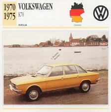 1970-1975 VOLKSWAGEN VW K70 Classic Car Photograph / Information Maxi Card