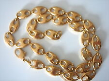 IMPOSANTE CHAINE PLAQUE OR LONG 50.5 CM 46 GRS VINTAGE NEUF/NEW OLD  CHAIN