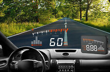 5.5 Car HUD HeadUp Display Vehicle Speedometer Front Windshield Glass Projector
