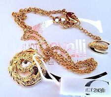 ~WOW! AUTH New JUST CAVALLI Italy Gold Plated Maririme Locket NECKLACE Signed