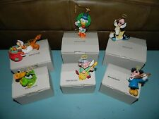 Grolier Goofy as an Angel Disney Ornament DCA Christmas Lot of 6
