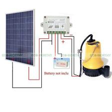 Solar Water Pump DC 12V System w/100W Solar Panel w/15A Controller for Watering