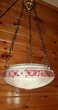 Antique Early 1900s-20s Deco/Art Nouveau Hanging Ceiling Light Chandelier,