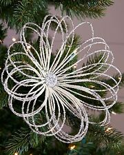 (4) Neiman Marcus Pearl & Silver Beaded Christmas Picks
