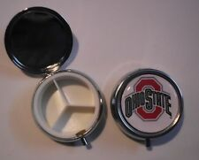 OHIO STATE BUCKEYES  PILL CASE HOLDER VITAMIN BOX MEDICATION POCKET SIZE