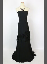 New Authentic Jovani 5526 Black Strapless Cruise Ball Evening Women Gown 12