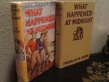 The Hardy Boys #10 WHAT HAPPENED AT MIDNIGHT 1943A-22 Yellow Spine Dust Jacket