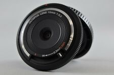 [Exc⁺⁺] OLYMPUS BCL-1580 15mm F8 Body Cap Manual Lens Black For Micro 4/3