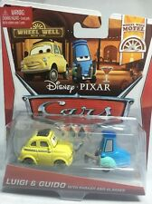 2013 Disney Pixar Cars 2: LUIGI & GUIDO WITH SHAKER AND GLASSES Wheel Well Motel