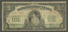 Dominion of Canada DC-23b  1917 1 dollar  circulated