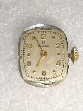 Vintage OMEGA WATCH MOVEMENT R13.5 with Dial & Hands , Used RUNS to Fix