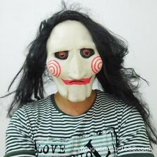Chainsaw Massacre Masquerade Horror Mask Wig Halloween Cosplay Saw Puppet  Party