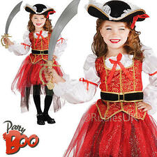 Pirate Princess + Hat Girls 8 9 10 Years Fancy Dress Kids Child Costume Outfit