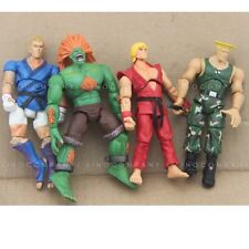 LOT 4 STREET FIGHTER gifts BLANKA KEN ABEL GUILE 4in. ACTION FIGURE TOY GAME