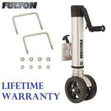 "FULTON F2 TRAILER JACK 1600 lbs. TWIN TRACK BOLT-ON 3""X5"" TONGUES 10"" LIFT BOAT"