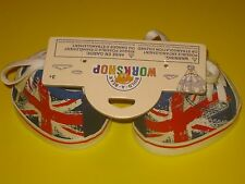 New BUILD-A-BEAR Accessory UNION JACK HITOP SHOES Blue Red UK EXCLUSIVE England