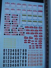 DECALS 1/43 DIVERSES PLAQUES RALLYE MONTE CARLO - T418