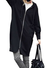 US Women's Winter Warm Zipper Hoody Long Parka Cardigan Jacket Coat Outwear Plus