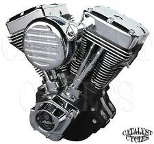 """Black 107"""" Ultima Engine El Bruto Evolution Motor for Harley Evo Engine 1984-99"""
