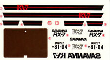 TAMIYA Decal 24016 1/24 Mazda Savanna RX-7 Sunroof SE Limited