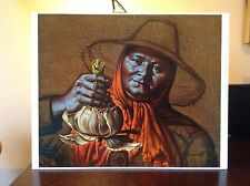 ORIGINAL RARE Tretchikoff The Herb Seller 1960s - Vintage Kitsch Art Print