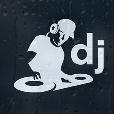 DJ Playing On Vinyl Car Decal Vinyl Sticker