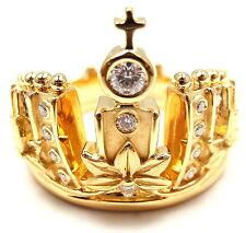 New! Authentic! Carrera Y Carrera 18k Y/G Mi Princes Russian Crown Diamond Ring