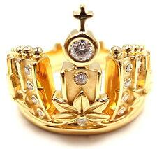 New! Authentic! Carrera Y Carrera 18k Y/G Mi Princes Russian Crown Diamond Ring