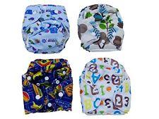 Newborn Baby Boy Cloth Pocket Diapers 4 Pack Super Absorbent Microfiber Insert