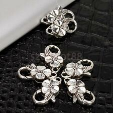 10pcs Antique Tibetan Silver Flower Lobster Clasp Jewelry Findings 25mm