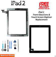NEW Complete Front Glass/Digitiser Touch Screen/Panel Assembly FOR iPad 2 BLACK