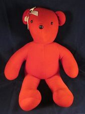 """North American Bear VIB 1979 Red Bear White Ribbon Red Flower 20"""" ~ EXCELLENT"""
