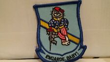 """Navy F-14 Tomcat """" Patch """"Engarde Baby"""". 3 inches in height"""