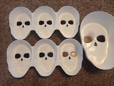 Halloween Skull Snack Bowls Server Set 3 Pack 7 Spaces NEW Large