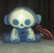 """Skelanimals MARCY monkey 6"""" in plush light blue NEW NWT Toynami only one on ebay"""