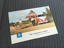 Vw volkswagen split bus westfalia sales brochure early 60's super rare ENGLISH