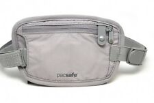 NEW PACSAFE COVERSAFE 25 LIGHTWEIGHT SECRET WAIST MONEY WALLET GREY