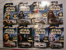 2015 Hot Wheels Walmart STAR WARS☆The Force Awakens✰Complete 8 car set
